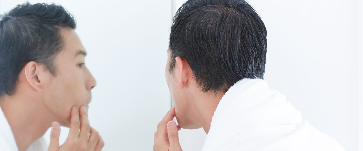 永久ヒゲ脱毛のメリット・デメリット_見出し1_カミソリ負け・肌荒れを改善できる!