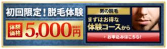 永久ヒゲ脱毛お得なキャンペーン情報_ダンディハウス 初回限定価格5000円キャンペーン
